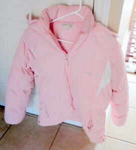 Girl's pink puffy winter jacket Size XL 14-16 hooded Brand new London Ontario image 1