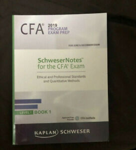Kaplan Schweser CFA Level 1 text books December 2019