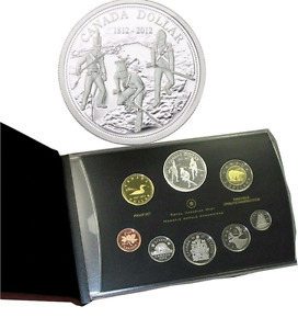 "2012 ""WAR OF 1812""  SILVER DOLLAR  PROOF SET - MINT CONDITION!!!"