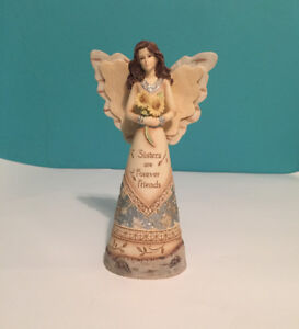 """ANGEL FIGURINE WITH THE SAYING """"SISTERS ARE FOREVER FRIENDS"""""""