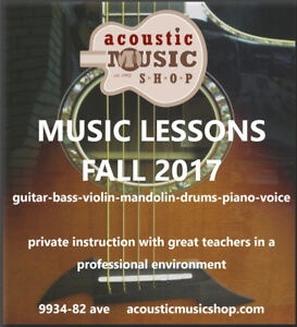 Music lessons in the HEART of Old Strathcona