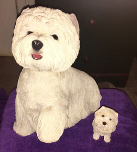 Sandicasts statue  West Highland white terrier