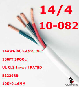 14GA 100FT In wall speaker wire cable OFC