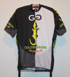 GOLDEN GECKO PALE ALE SHORT SLEEVE CYCLING JERSEY SIZE ADULT XL
