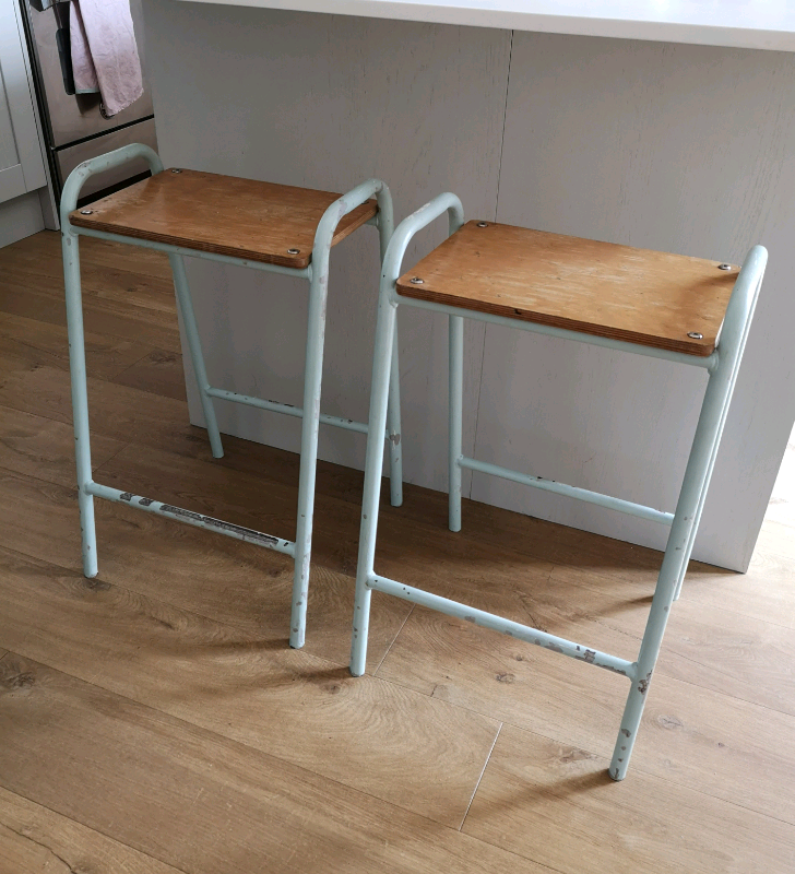 Fine Vintage Science Lab Metal Bar Stools Breakfast Bar Stools In Havant Hampshire Gumtree Beatyapartments Chair Design Images Beatyapartmentscom