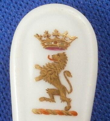 Antique Meissen Porcelain Armorial Mustard Spoon Porzellan Senfloeffel Loffel