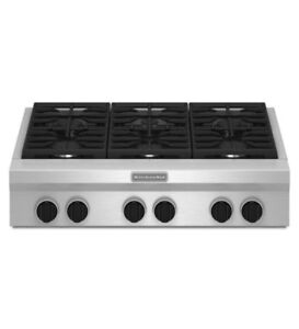 KitchenAid Rangetop Gas Cooktop 36 inch 6 Burners UNCRATED $2999