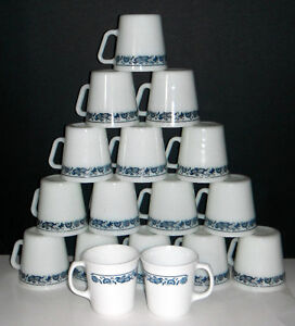 Pyrex and Corning Coffee mugs in OLD TOWN BLUE design Windsor Region Ontario image 4