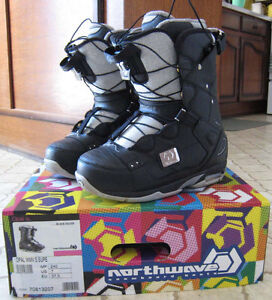 Northwave Opal Black / Silver 24.5 (7.5) Snowboard Boots Bottes