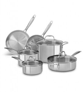 BRAND NEW[NEVER OPENED] Kitchenaid 10Piece Stainless Steel Set