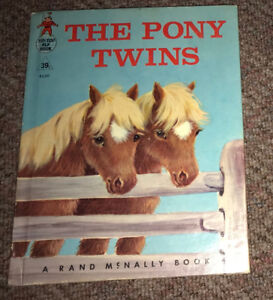 Vintage The Pony Twins  Rand McNally Tip Top Elf Book 1964