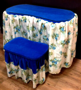 Antique Kidney Shaped Dressing Table and matching Stool