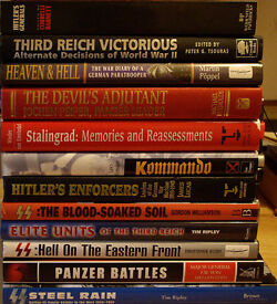PANZER BATTLES AND 11 OTHER NAZI MILITARY HARDBACK BOOKS.