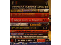 PANZER BATTLES AND 11 OTHER NAZI MILITARY HARDBACK BOOKS.