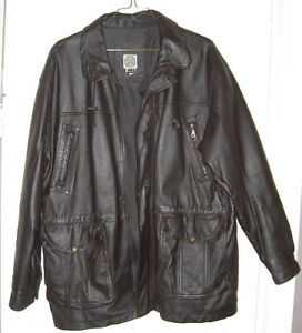 mens 44 large R&R leather jacket - redyed