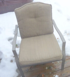Single patio conversation chair, good condition