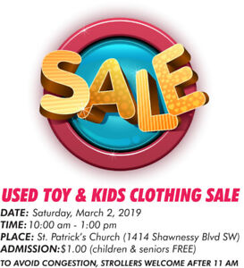 USED TOY AND KID'S CLOTHING SALE