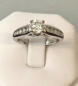14k white gold diamond engagement ring ^Comes Appraised - $7,800