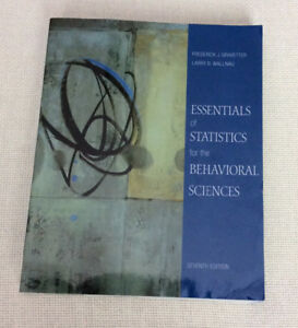 Statistics for the behavioral sciences buy or sell books in essentials of statistics for the behavioral sciences 7th ed fandeluxe Image collections