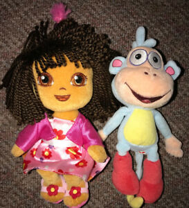 Dora the Explorer & Boots Ty Beanie Babies 6 Inches
