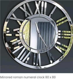 Large mirrored clock