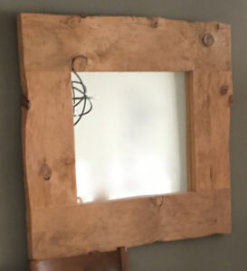 FS: Handmade Mirror with Century old Reclaimed Barn Wood Frame