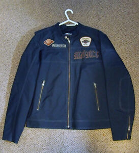 Harley Davidson Textile and Cowhide Jacket - Size L - Like New
