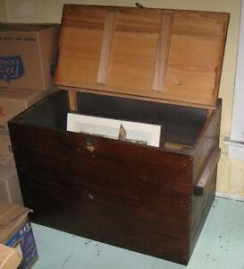 Antique early 1900's storage trunk