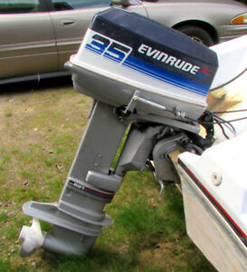 35 hp Evinrude outboard motor