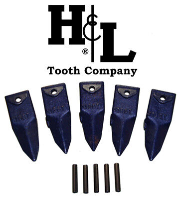 X156t Tiger Hensley Style Bucket Teeth 5 Pack Pins By Hl Tooth Co. 156