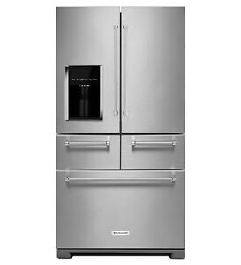 Réfrigérateur 36'', 3 tiroirs à congélateur, Stainless, KitchenAid, Showroom