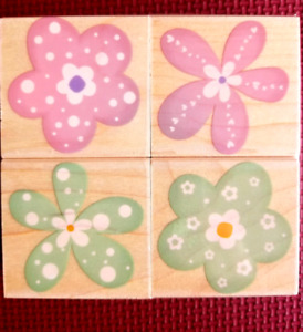 """Rubber Stamp Set by Hero Arts called """"Fancy Flowers """""""
