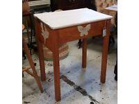 Shabby Vintage Child's Wooden School Desk