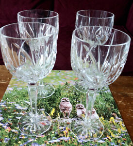 Waterford Crystal wine glass goblets 11 oz - set of 4