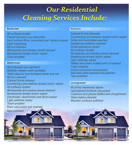Ottawa-Gatineau-Orleans Residential Cleaning Services