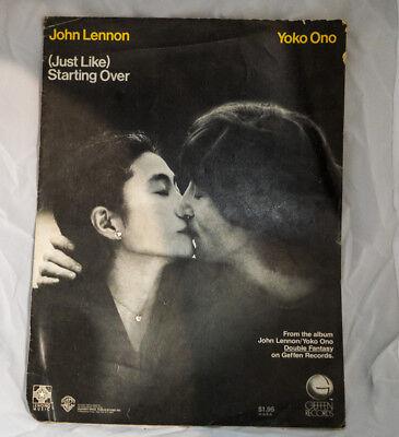 John Lennon ~ Just Like Starting Over ~  US  Sheet Music