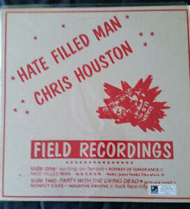 Punk Rock Vinyl Album Chris Houston Hate Filled Man 1986 Rare