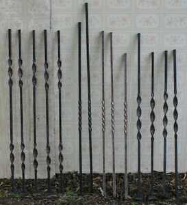 14 Metal Jacobean Twist Stair Balusters/ Spindles,  Group C