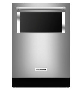 "KitchenAid KDTM384ESS 24"" Built-In Dishwasher With Window"