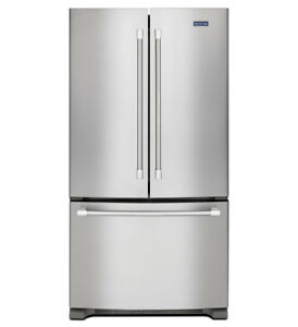 "Maytag MFF2558FEZ 36"" French Door Refrigerator Energy Efficient"