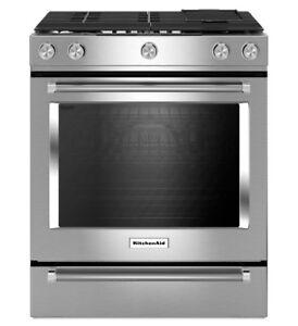 KitchenAid KSGB900ESS  30 inch, Self Clean, Convection Gas Range