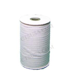 White-Braided-Elastic-1-4-Roll-144-Yards-Elastics-New