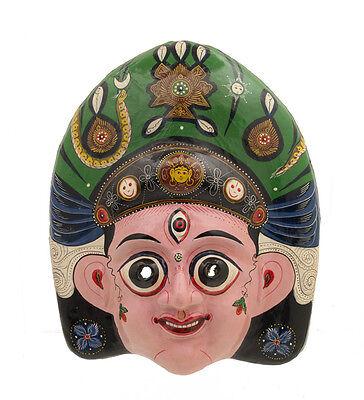 Mask Nepalese Devi Dance Indra Jatra Festival Nepal Paper Mache Mask 7326