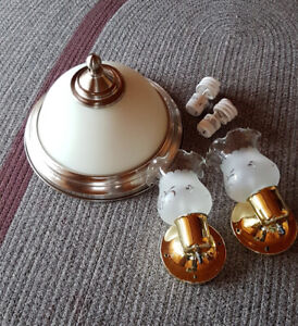 Ceiling Light Fixture and a Pair of Wall Sconces