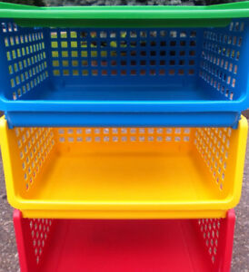 Colourful Stacking Toy Bin