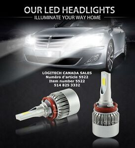 H11 LED Headlight Bulbs for Ford Chevy Fog Light La