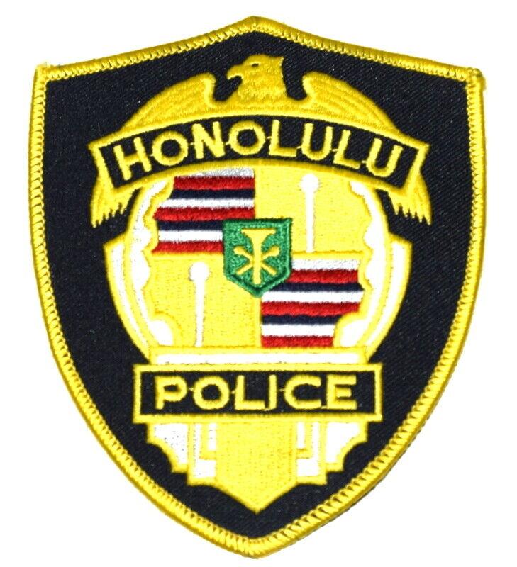 HONOLULU HAWAII HI Sheriff Police Patch CITY SEAL YELLOW ~