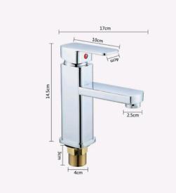Modern basin tap chrome finsh solid stuff