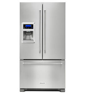 36'' French doors Stainless Fridge w. Water/Ice KitchenAid