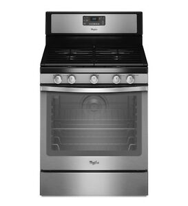 """Whirlpool WFG540H0ES 30"""" Free Standing Convection Gas Range"""